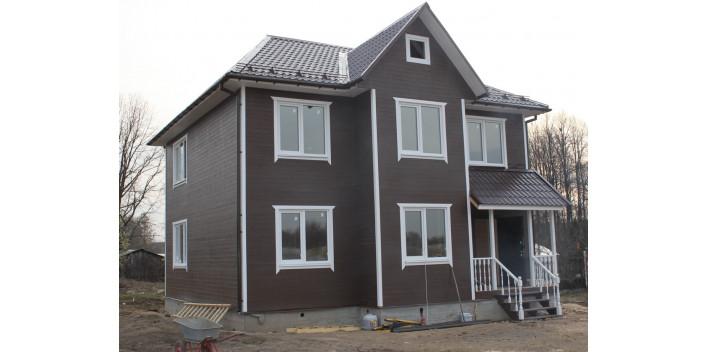Двухэтажный каркасный жилой дом на 180 кв.м.