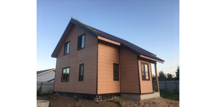 Одноэтажный жилой дом с мансардой в г.Миасс