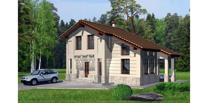 Двухэтажный жилой дом из пеноблока 210 кв.м