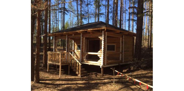 Одноэтажный домик из сруба общей площадью 60 кв.м.